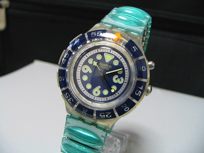 Swiss 1990 39 s swatch quartz diver watch water resistant - Swatch dive watch ...